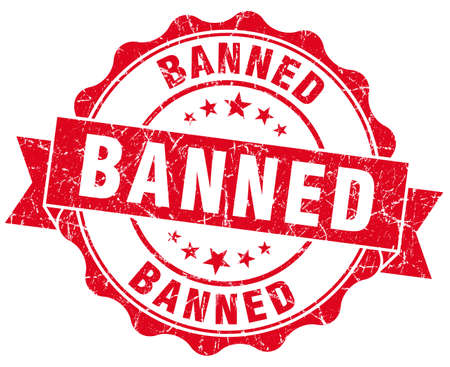 banned: banned red vintage isolated seal