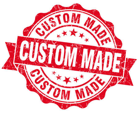 custom made: custom made red vintage isolated seal Stock Photo