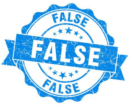falso: falso sello grunge azul aislado en blanco Foto de archivo