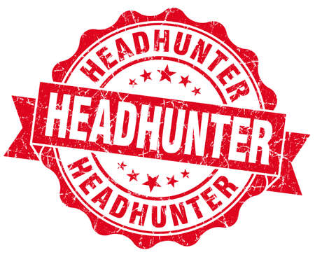 headhunter: headhunter red grunge seal isolated on white Stock Photo