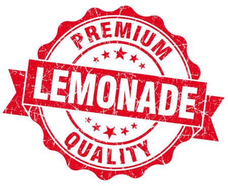 lemonade red grunge seal isolated on white photo
