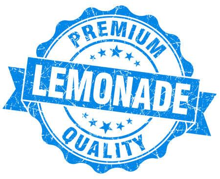 lemonade blue grunge seal isolated on white photo