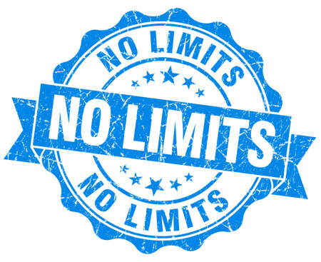 no limits: no limits blue grunge seal isolated on white Stock Photo