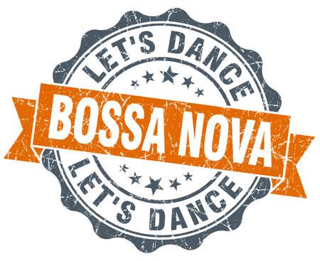 nova: bossa nova orange vintage seal isolated on white