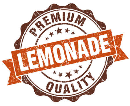 lemonade brown vintage seal isolated on white photo