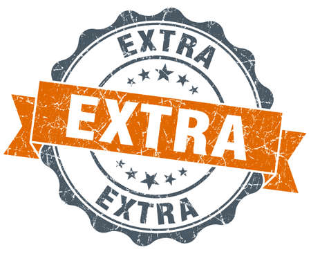extra: extra orange vintage seal isolated on white