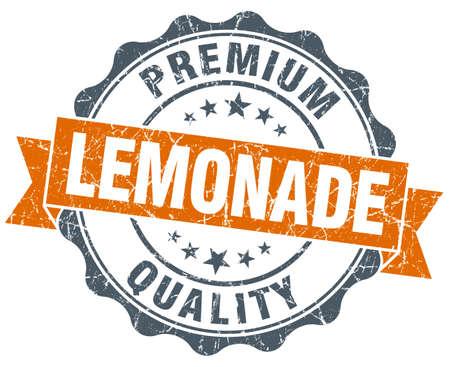 lemonade vintage orange seal isolated on white photo