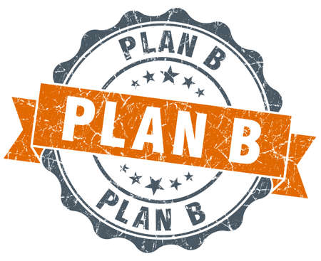 plan b: plan b vintage orange seal isolated on white