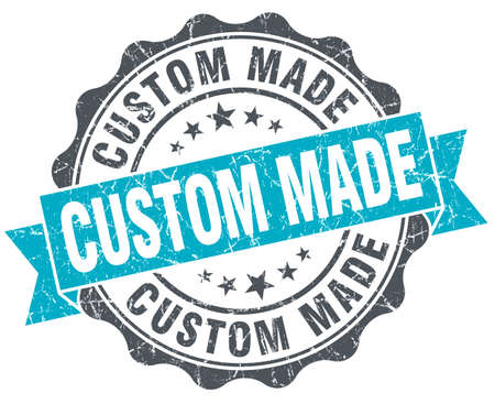 custom made: custom made vintage turquoise seal isolated on white