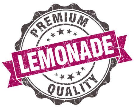 lemonade grunge violet seal isolated on white photo