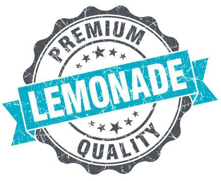 lemonade vintage turquoise seal isolated on white photo