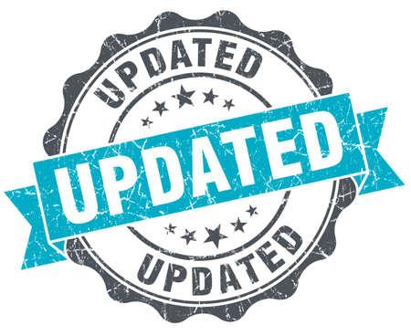 updated: actualizado sello turquesa vendimia aislado en blanco