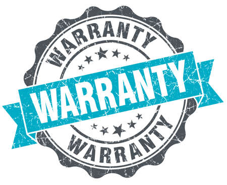 warranty vintage turquoise seal isolated on white Stock Photo - 36555390