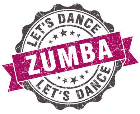 Zumba grunge 바이올렛 인감 화이트 절연 스톡 콘텐츠 - 36555458