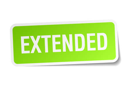 extended green square sticker on white background