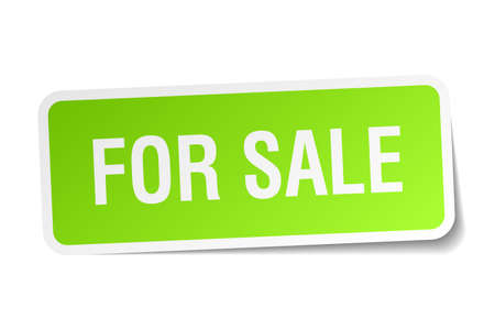 satılık: for sale green square sticker on white background