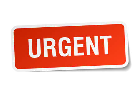 urgent: urgent red square sticker isolated on white