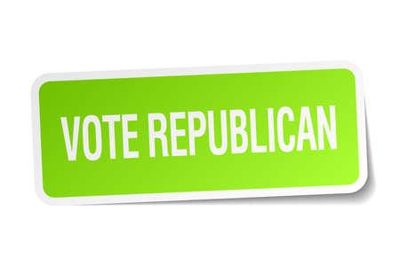 democrats: republicano del voto etiqueta cuadrada verde sobre fondo blanco