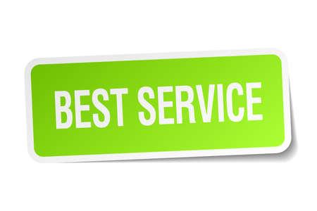 best service: best service green square sticker on white background