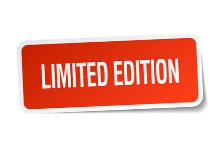 limited edition: limited edition red square sticker isolated on white