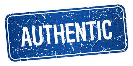 authentic: authentic blue square grunge textured isolated stamp