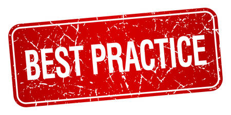 best practices: best practice red square grunge textured isolated stamp