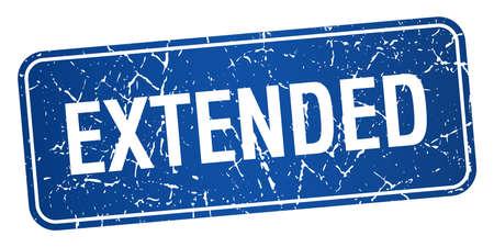 estendido: extended blue square grunge textured isolated stamp Ilustração