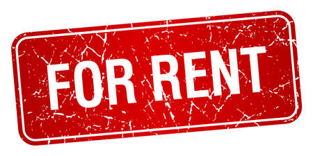 for rent: for rent red square grunge textured isolated stamp
