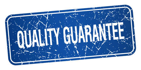 quality guarantee: quality guarantee blue square grunge textured isolated stamp