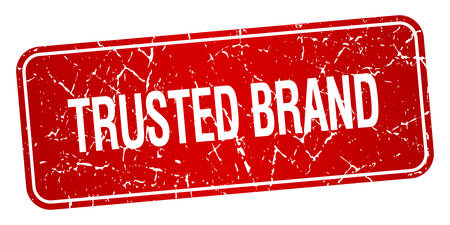 trusted: trusted brand red square grunge textured isolated stamp