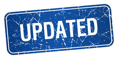 updated: cuadrado azul actualizada grunge textura aislado sello
