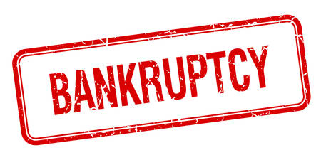 bankruptcy: bankruptcy red square grungy vintage isolated stamp