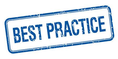 практика: лучшие практики синий квадрат шероховатый старинные изолированных штамп