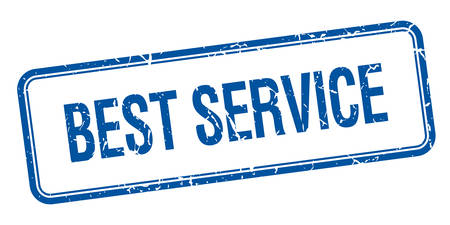 best service: best service blue square grungy vintage isolated stamp