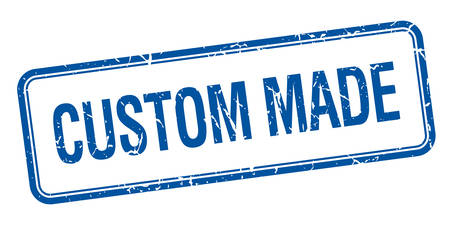 custom made: custom made blue square grungy vintage isolated stamp