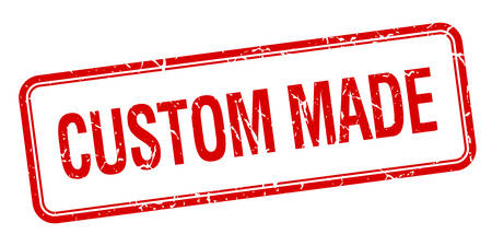 custom made: custom made red square grungy vintage isolated stamp
