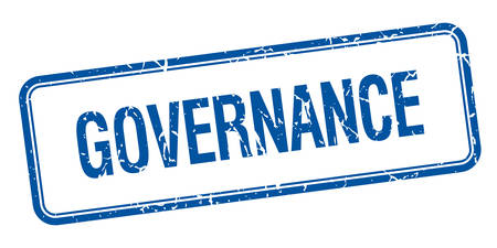 governance: governance blue square grungy vintage isolated stamp