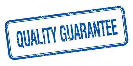 quality guarantee: quality guarantee blue square grungy vintage isolated stamp