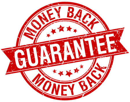 guarantee seal: money back guarantee grunge retro red isolated ribbon stamp