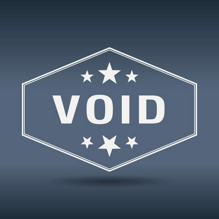 void: void hexagonal white vintage retro style label Illustration