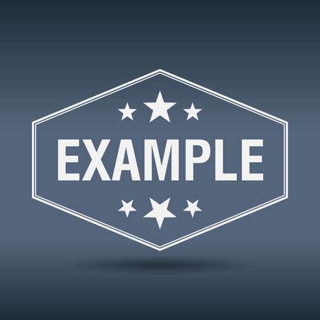 an example: example hexagonal white vintage retro style label