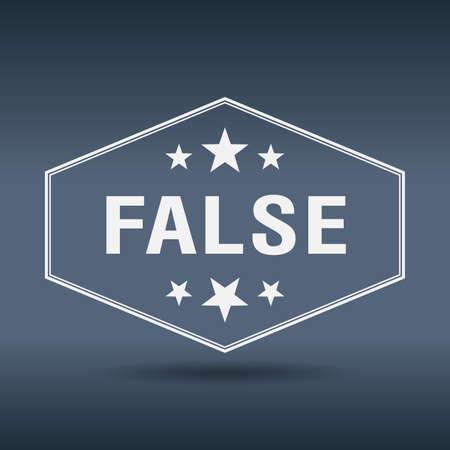 falso: falsa etiqueta de estilo hexagonal blanco retro vintage