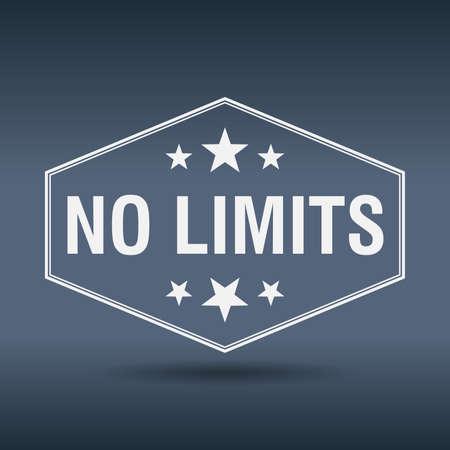 no limits: no limits hexagonal white vintage retro style label