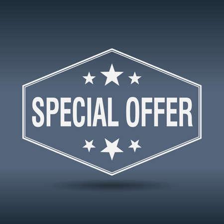 offerta speciale: offerta speciale etichetta di stile esagonale bianco annata retr�