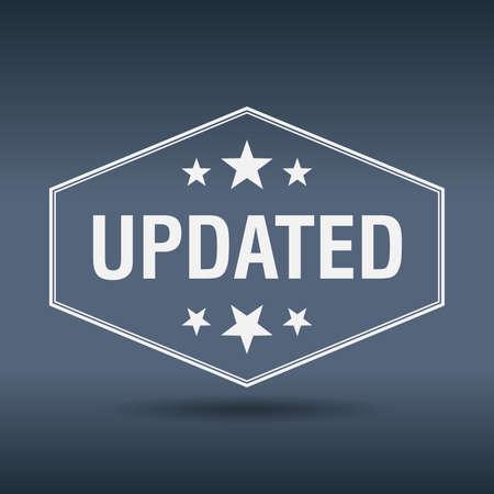 updated: etiqueta de estilo retro actualizado hexagonal vendimia