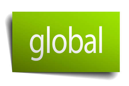 green paper: global green paper sign isolated on white