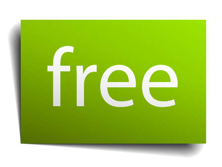 green paper: free green paper sign isolated on white