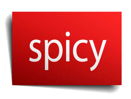 spicy: spicy red paper sign isolated on white Illustration