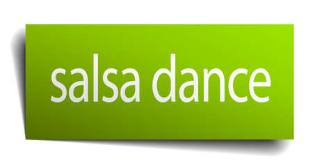 salsa dance: salsa dance square paper sign isolated on white Illustration