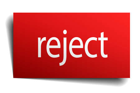 reject: reject red paper sign on white background Illustration